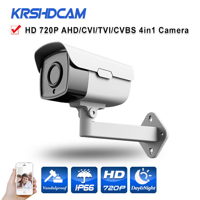 AHD-M Camera bullet 1.0MP 720P HD Analog BNC outdoor Waterproof IP66 24IR CCTV Security Night Vision cameras de seguranca free shipping new waterproof ahd 720p bullet metal camera hd 1mp cctv outdoor security 24 ir night vision bnc cable