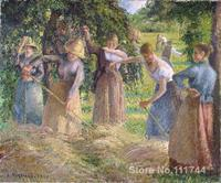 bedroom art Hay Harvest at Eragny Camille Pissarro paintings home decor High quality Hand painted