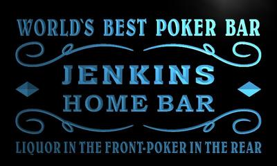 x1083-tm Jenkins Home Bar Poker Room Custom Personalized Name Neon Sign Wholesale Dropshipping On/Off Switch 7 Colors DHL