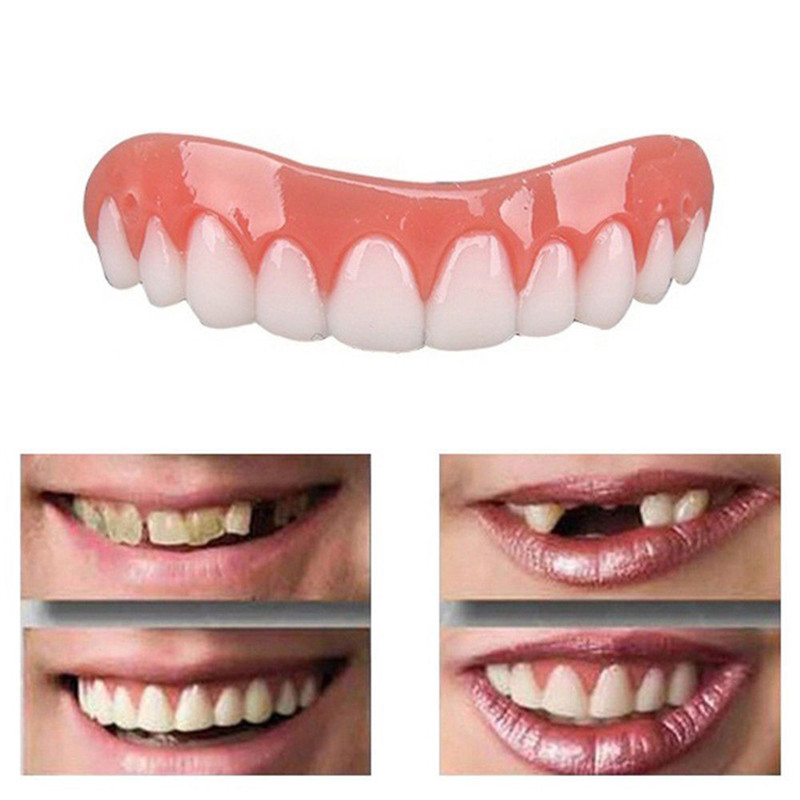 False Tooth Stickers Simulation Teeth Whitening Dentures Paste Braces Upper Tooth Cover Tool Perfect Smile Comfort Teeth Veneers