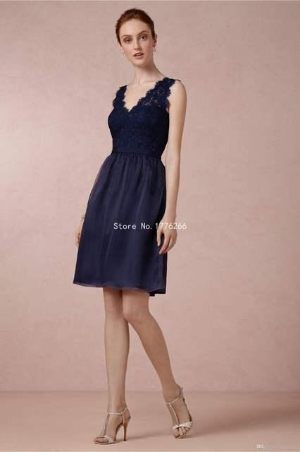 48276dcf45c3 Online Shop 2015 Bridesmaid Dress Navy Blue Lace Wedding Party Dress Short  Simple Cheap Junior Bridesmaid Dresses Wedding Guest Hot ZH1838 |  Aliexpress ...