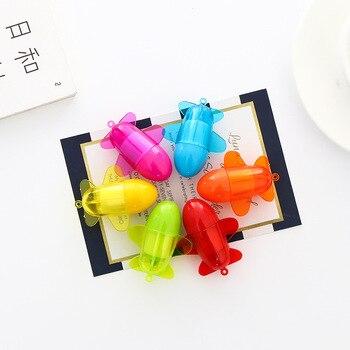 цена 6 pcs Novelty Mini airplane ballpoint pen 1.0mm Blue color pens Kawaii kids gifts Stationery items School supplies FB135 онлайн в 2017 году