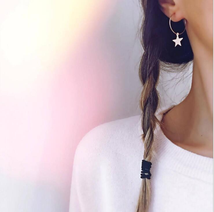 Earrings For Women Gold Silver Fashion Jewelry Pendant Girls Trend Gift Hanging Dangler Eardrop Clasp Female Simple Star
