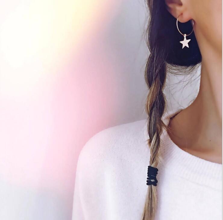 Earrings For Women Gold Silver Fashion Jewelry Pendant Girls Trend Gift Hanging Dangler Eardrop Clasp Female Simple Star
