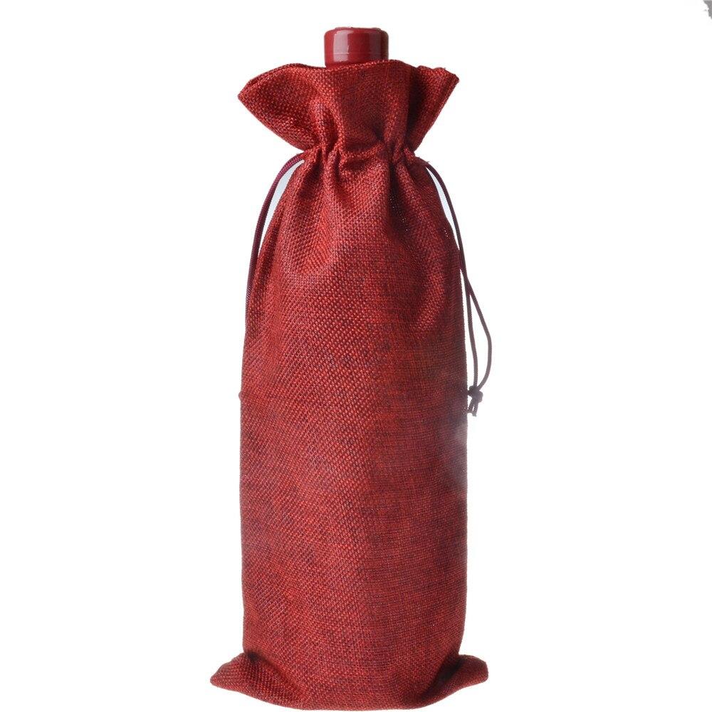 Navidad yute botellas de vino bolsas de regalo bolsas de vino - Para fiestas y celebraciones - foto 5