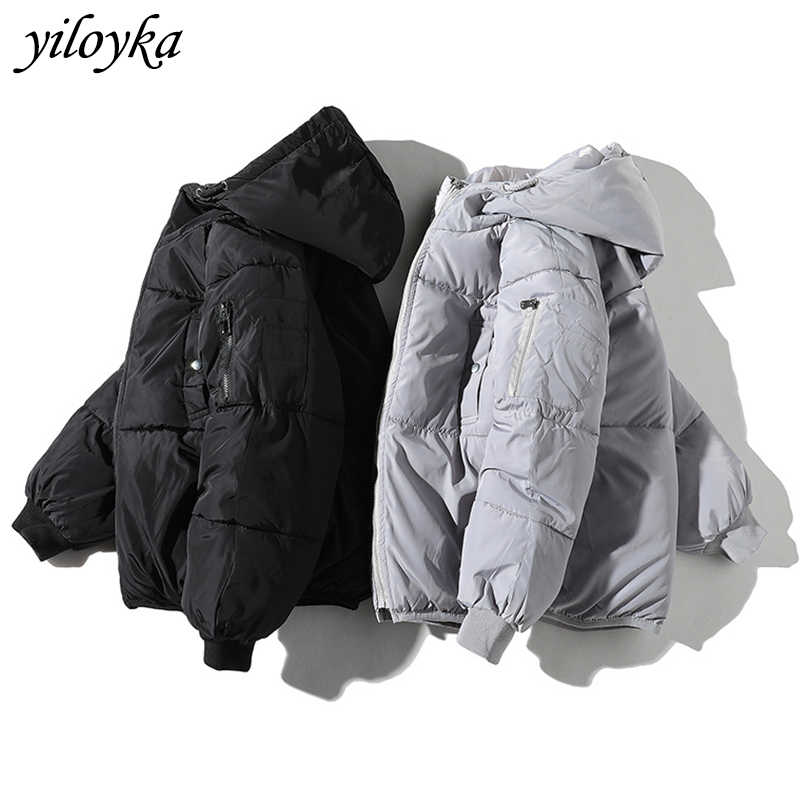 Winter Jacket Men Clothes 2019 Casual Hooded Collar Fashion Thick Windbreaker Coat Men Parka Hombre Outerwear Warm Snow Parkas
