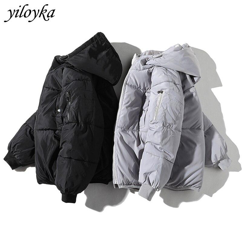 Winter Jacket Men Clothes 2019 Casual Hooded Collar Fashion Thick Windbreaker Coat Men Parka Hombre Outerwear Warm Snow Parkas
