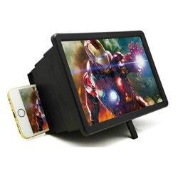 12 retracretracretrátil 3d telefone móvel acrílico hd filme de visualização vídeo proteção para os olhos desktop tela amplificador vídeo lupa suporte