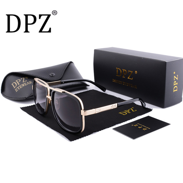 4839bac23d6 DPZ Brand Design men sunglasses Women retro square High quality steampunk  UV400 protective eyeglasses Luxury brands with box