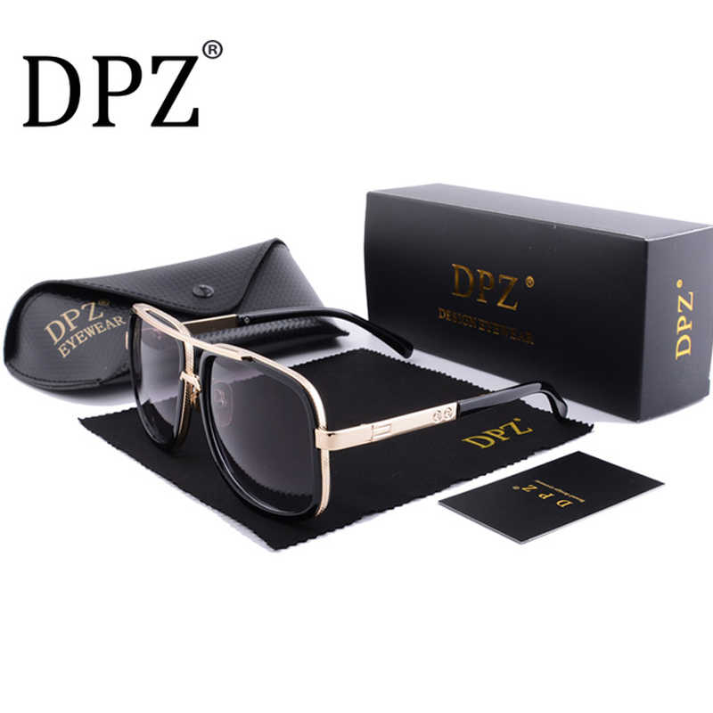 34ec48f30 DPZ Brand Design men sunglasses Women retro square High quality steampunk  UV400 protective eyeglasses Luxury brands