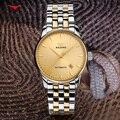 Элегантные Мужские часы в английском стиле  Простой деловой дизайн  кварцевые часы  полностью Стальные наручные часы  часы с календарем  муж...