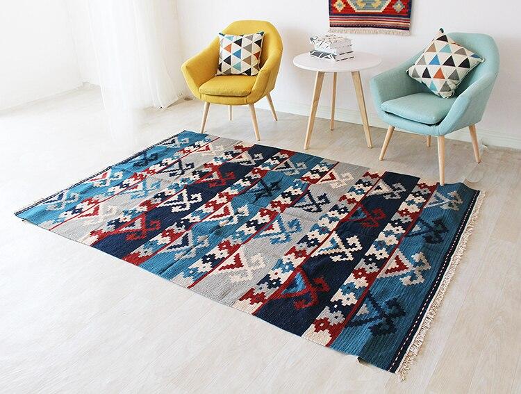 Kilim tissu Tissé pour salon motifs Géométriques géométriques Tapis En Laine