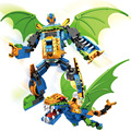 New arrival Dragon deformation Deformation Super Robot Building Blocks Clone Wars Troopers  playmobil Toy scale models