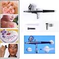 Dual Action Airbrush Kit 0.3mm Needle Air Brush Spray Gun For Face Paint Airbrush Nail Art Aerograph Tattooing  SP130TLWH03