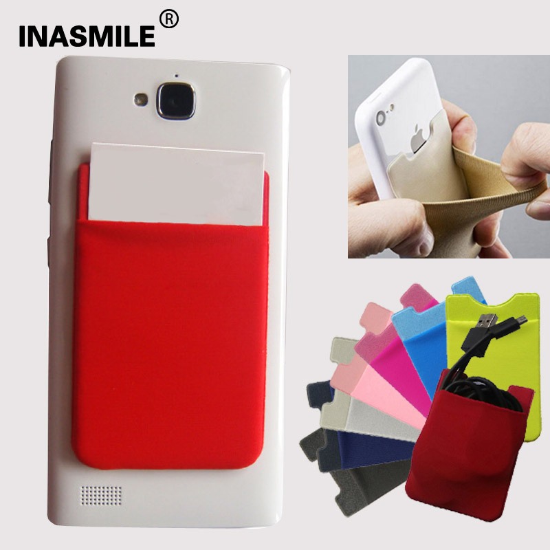 bolso de la bolsa titular de la tarjeta de crédito flexible para iphone se case