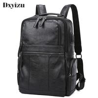 2019 New Large Capacity Travel Black Bags Genuine Leather Men Backpacks Male Zipper Designer School Backpack Men's Travel