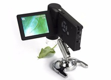 Buy BOBLOV UM039 20X-500X Portable 3″ LCD Digital Microscope 5.0MP 8 LED Rechargeable Battery Free shipping