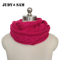 Brand Winter Women Circle Crochet Scarf Infinity Scarf For Men Warm Loop Scarf 15colors Available