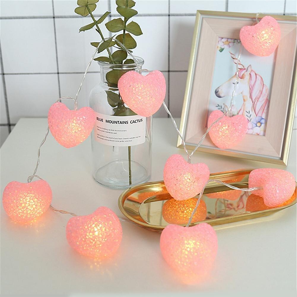 Heart Love Led String Lights For Bedroom Curtain Garden ...