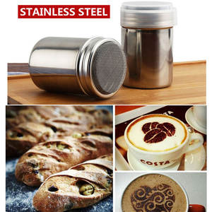 Shaker Sifter-Lid Cooking-Tool Flour Chocolate Coffee Stainless-Steel Kitchen-Accessories