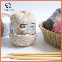 Miễn phí Vận Chuyển 50 gam/Bóng Chồn Cashmere Sợi Cho Tay-Dệt Kim Crochet Đề Mỏng Tốt Mặc Trong Mùa Đông một