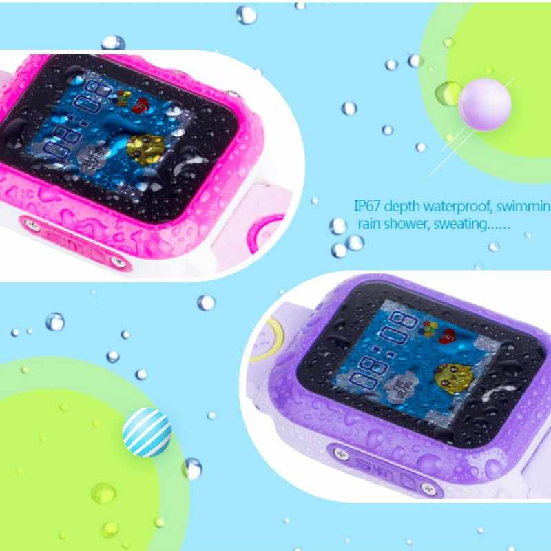 2019 NEW GPS Tracker Watch For Kids Waterproof SOS Call Dual Identity Remote Monitoring For Smart Touch Screen Breathable DF27