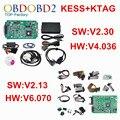 Conjunto completo V2.30 V2.13 KTAG ECU Programador + KESS V2 V4.036 OBD2 Gerente Sintonia Kit K TAG Nenhum Tokens V6.070 K-TAG Mestre versão