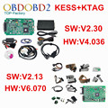 Full Set KTAG V2.13 ECU Programmer + KESS V2.30 V2 V4.036 OBD2 Manager Tuning Kit K TAG No Tokens K-TAG V6.070 Master Version