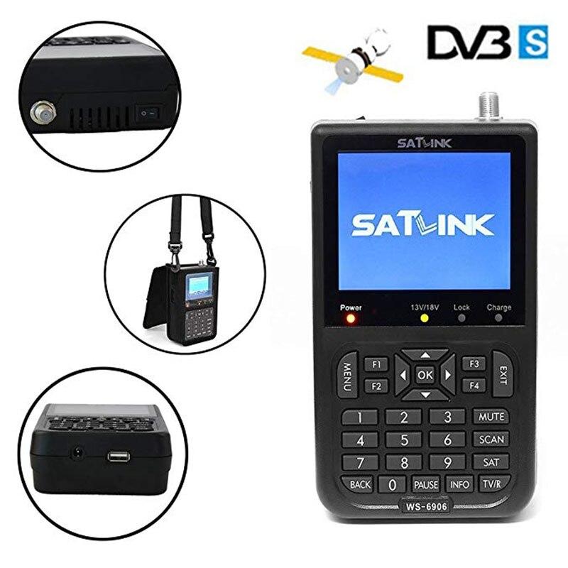 Satxtrem Satlink WS 6906 Sat Findermini Mini Dgital DVB-S2 FTA Receptor Satellite Meter Supports QPSK Satlink Satellite Finder