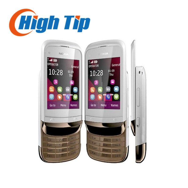C2 03 Original Unlocked NOKIA C2 03 mobile phone Bluetooth MP3 Dual SIM Touchscreen Cheap Cell