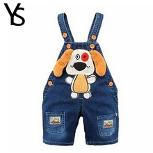 6M-2T Baby Boys Girls Denim Short Overalls For Summer Infant Toddler Kids Jeans Rompers Cute Dog Jumpsuit  For Child Clothes