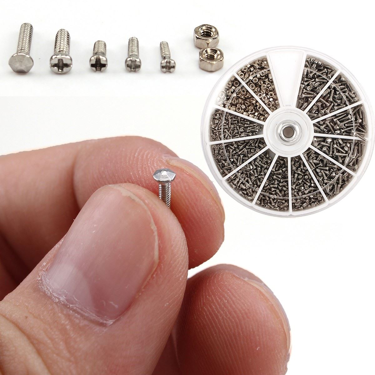 High Quality 1000pcs/set Assorted  Fasteners Screws For Watch Clock Eye Glasses Watchmaker Repair Part Tool  цены