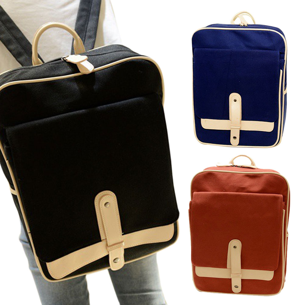 2016 Simple Cross Style Canvas Backpack Fashion Daily Schoolbag Women Men Back Pack College Teenager Schoolbag WML99