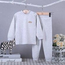 Детское теплое нижнее белье, детская одежда из органического хлопка, пижамы для девочек, детская одежда для сна для мальчиков, комплект одежды для малышей, осенние пижамы
