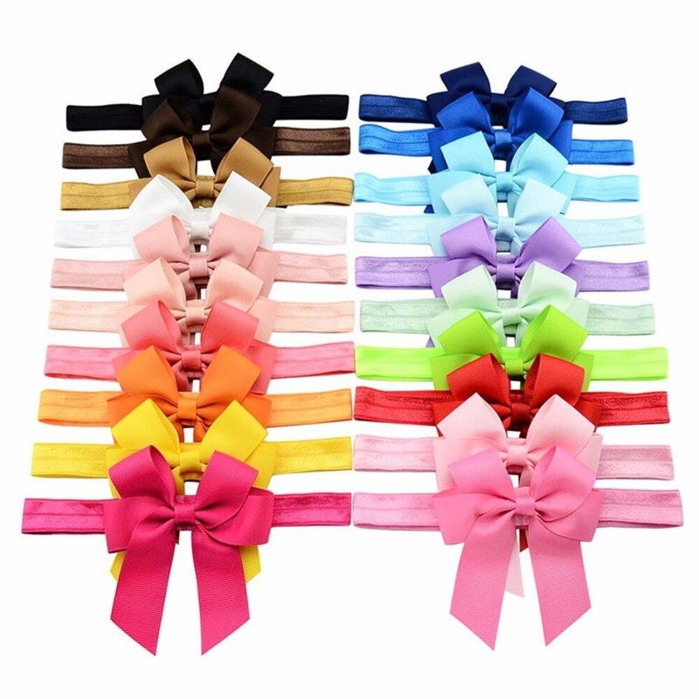 Arcos de Cabelo Acessórios de Cabelo Headbands para Meninas Crianças Bandas Hairband Headwrap Elástico Macio Cheerleading Arcos 20 Pcs