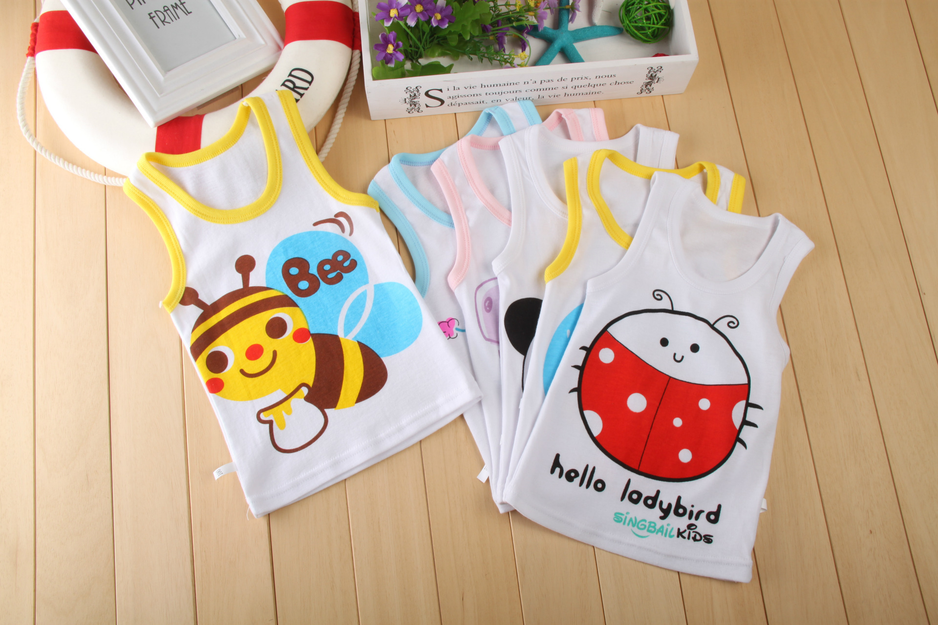 5 pieces 0-4 years Summer Vest Baby Girl Clothes Cotton Cartoon Embroidered Sleeveless Vest Newborn Baby Boy Clothes baby set baby boy clothes 2 pieces