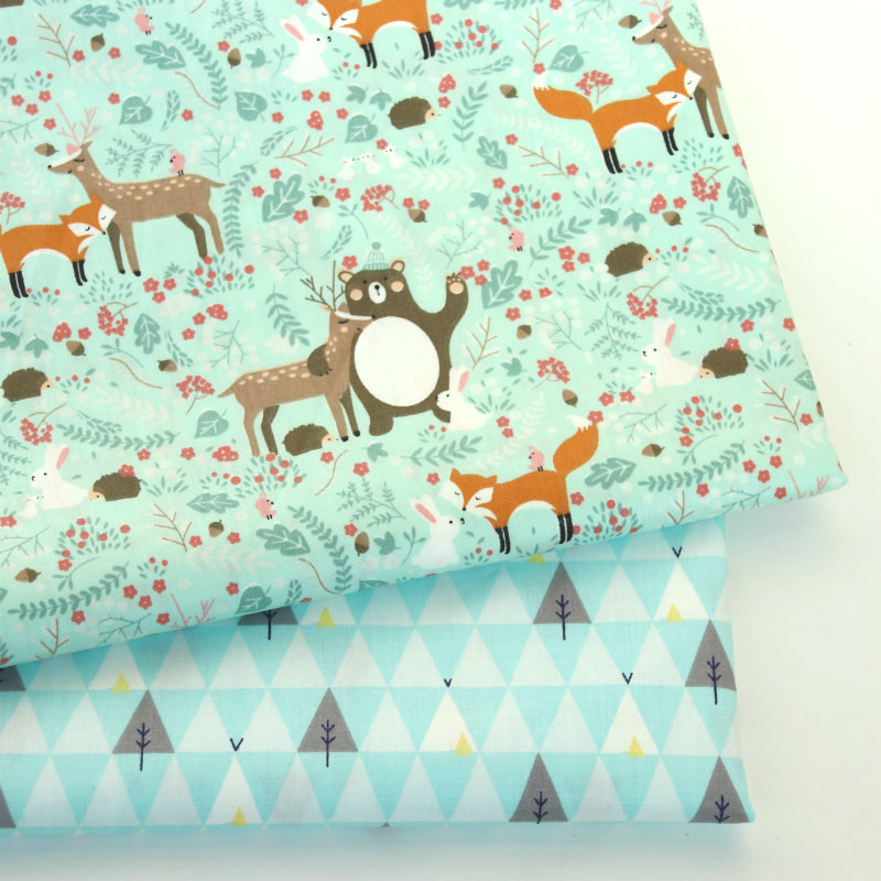 Buulqo Cotton Sheet Fabric Printed  Kids Twill Cloth For DIY Handmade Baby Bed Sheet Home Textile Sewing Fabric