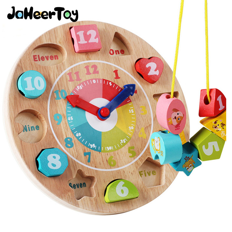 JaheerToy Baby Educational Toys for Children Blocks Wooden Toys Digital and Time Cognition the Bead Game Kids Montessori goki wooden traditional toys clock bears mini bead frames floating ball press and shake figures top with pull out string