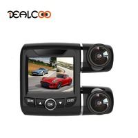 Dealcoo Car DVR Recorder Camera Dual Lens Front and Rearview Camera 1080P+1080P Novatek 96632 Sony Sensor Night Vision Parking
