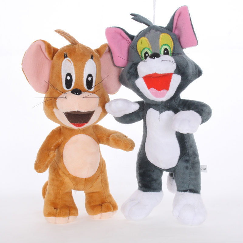 30cm Cartoon Movie Tom and Jerry Plush Toys Stuffed Animals Soft PP Cotton Cat Mouse Plush Doll for Kids Children Girls Gift 3 pusheencat plush toys donuts cat with food style plush pendant keychain soft stuffed animals toys doll for kids children gift