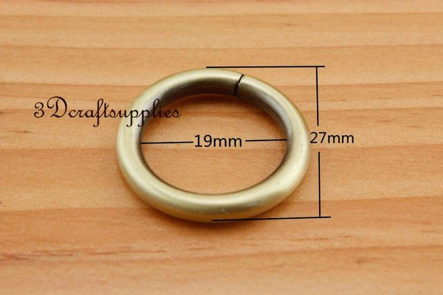 metal O rings O ring purse ring connector anti bronze 19mm 3/4 inch ...