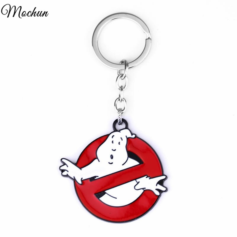 Ghostbusters Logo cool pendant quality Glow In the Dark Belt Buckle Red Enamel Keychain Movie jewelry image