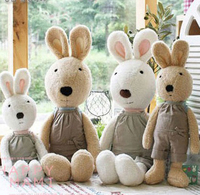 Pernycess 1pcs Bib Models Lesucre Sugar Rabbit Plush Toys Colors White Brown