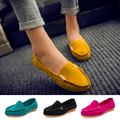 2016 New Summer Style Woman Shoes Leather Women Shoes Flats Buckle Loafers Slip On Women Flat Shoes Moccasins boat shoes