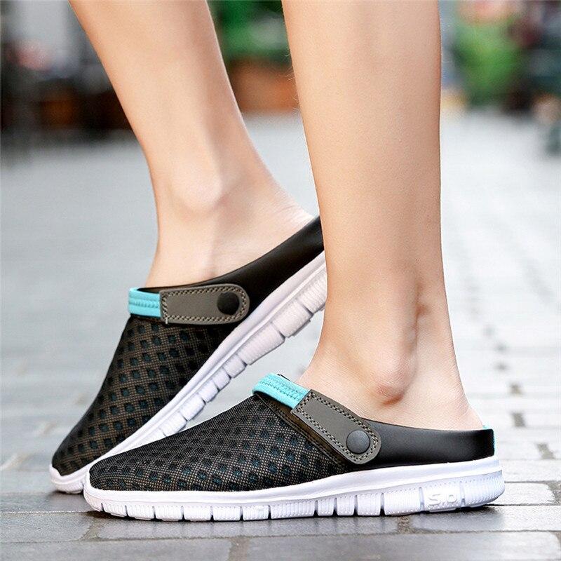 De Zapatos Acolchado Hombres Zapatillas Sandalias Transpirable Malla Casual Verano dark Ayakkabi Blue Hombre Erkek Playa Black rww5Yq4v