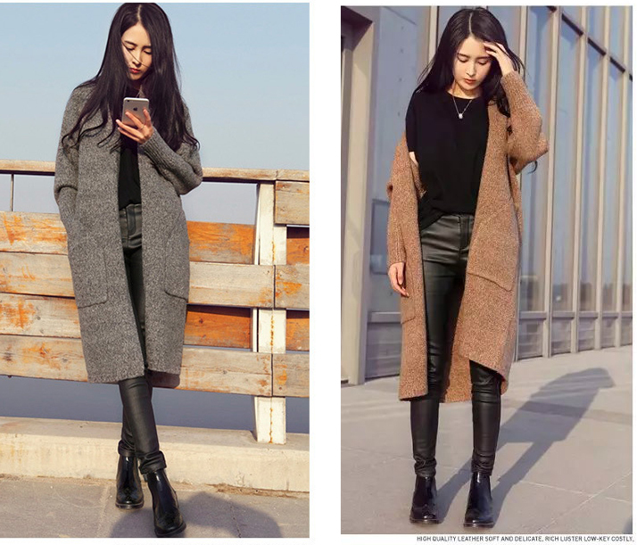 Hot sale 2015 fashion Autumn Cardigan brief Maxi long sleeve long ...