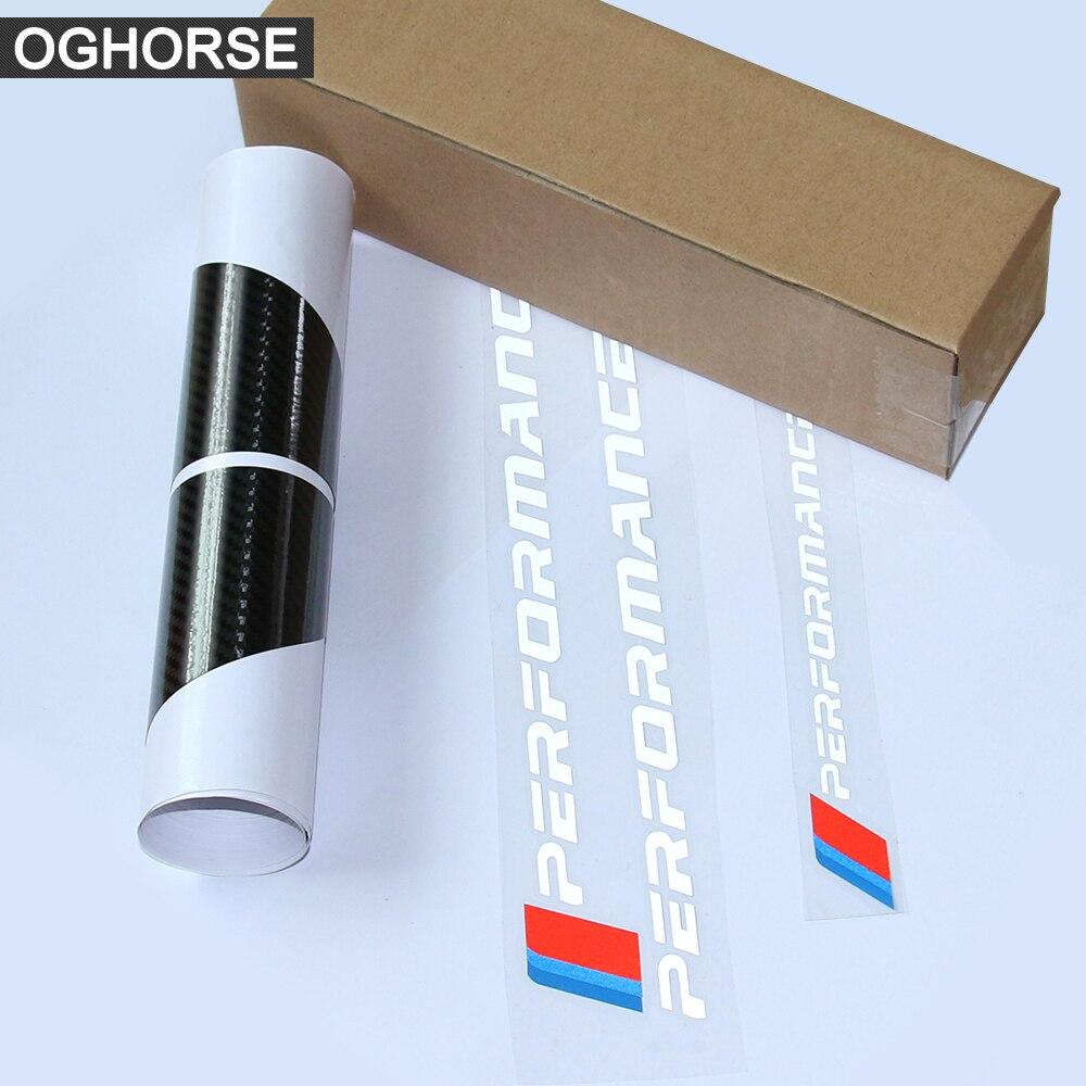 Купить с кэшбэком 2Pcs Side Stripes Sill Skirt Stickers Decal M Performance M Sport for BMW 1 Series f20 f21 118i 120i 125i 128i 135i Accessories