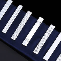 Короткий параграф stickpin 4 см для мужчин Серебряный Мода контракт зажим для галстука 10 мужской короткая застежка клип оптовая продажа