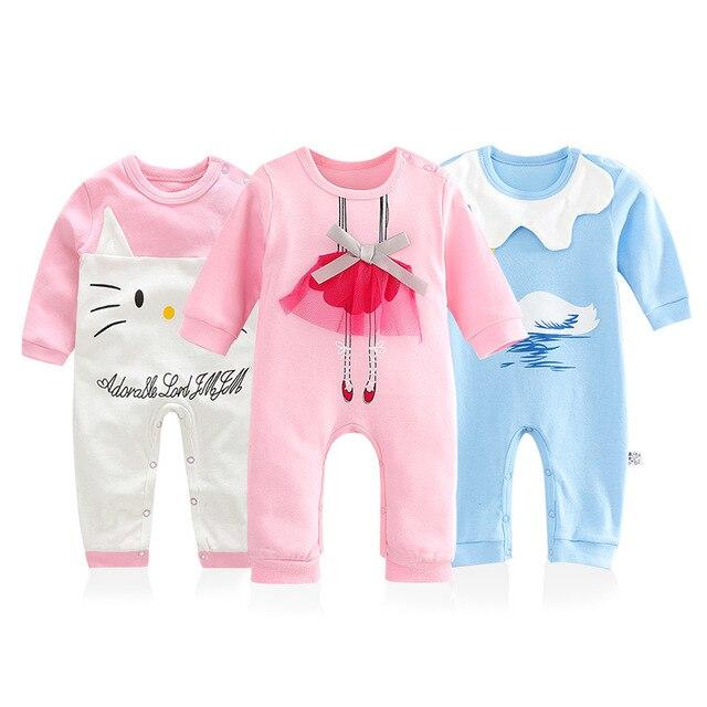 3b4a9ef0b Newborn Baby one piece Clothing Full Sleeve Sweet Cute Baby Girls ...
