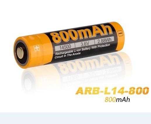 4pcs/lot 2015 New Fenix ARB-L14-800 3.6V 14500 800mAh Rechargeable Li-ion Battery With Protection Circuit
